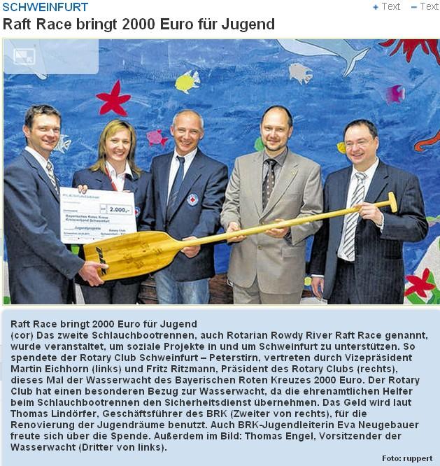 Spendenübergabe an BRK und Wasserrwacht 24.3.2011